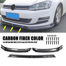 Front Bumper Lip Body Kit Spoiler For VW Golf MK7 MK7.5 GTI R-Line GTD TDI 14-19