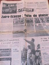 JOURNAL L'EQUIPE 24H DU MANS 1974 (ref E32)