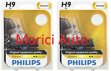2x PHILIPS H9 Light Bulb Halogen Beam 65W OEM 12361 B1 Headlamp Pair