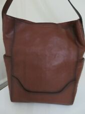 Frye Women's Leather Side Pocket Hobo Shoulder Bag - Cognac