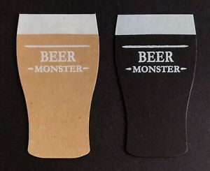 Beer Monster die cut foiled card toppers embellishments,  pk5