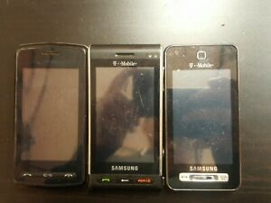 (Lot Of 3) Vintage Smartphones Samsung, Lg T-mobile, At@t (Parts/Repair)