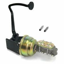 40-48 Chevy 7 Dual Brake Pedal kit Disk/Drum3in Blk Pad master frame mount rod