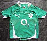 IRELAND IRISH RUGBY UNION IRFU home jersey shirt PUMA BOY/kids 8 YRS / 128 cm