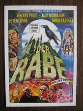 Filmplakatkarte  cinema  Der Rabe / The Raven  Vincent Price, Peter Lorre