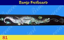 Free Shipping, Banjo Part - Rosewood Fretboard w/MOP Art Inlay (G-81)