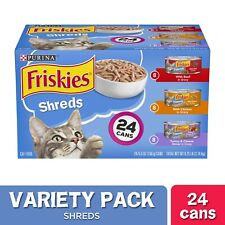 Purina Friskies Canned Wet Cat Food Shreds Variety Pack 24 Counts