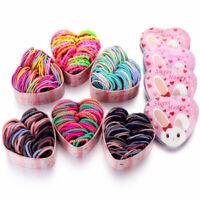 50Pcs/Box Kids Girls Elastic Hair Bands Ponytail Holder Hair Rope Rubber Band