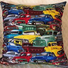 "Cushion Cover 18"" 46cm Vintage Ford Trucks Handmade Australia Ford Pickup Truck"