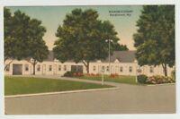 1954 Postmarked Postcard Wilsons Court Bardstown Kentucky KY