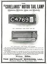 WW1 Metallic Mirrors Corelanus Motor Tail Lamp Oil Reservoir Ad