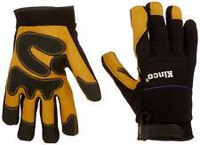 Kinco 102HK-XL Herren Gefüttert Maserung Ziegenfell Handschuhe, XL, Gelb / Black