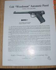 Colt Woodsman-Pre-War Vintage Manual (Per-War until late 1950's)