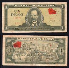 1 peso Banco Nacional de C uba 1967 BB/VF  @