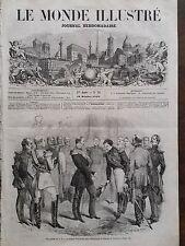 LE MONDE ILLUSTRE 1858 N 79  LE PRINCE NAPOLEON RECU PAR L'EMPEREUR DE RUSSIE
