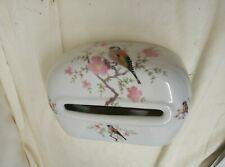 Ceramic Toilet Paper Sheet Dispenser Bird Decorated