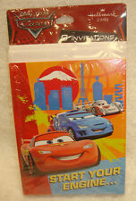 Disney CARS Lightning McQueen Party Invitations HALLMARK 8 Invitations Birthday
