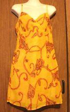 Rampage 100% Rayon Amber Yellow/Red Geometric Lined Crossover Tank Mini Dress 5
