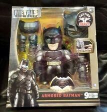 "Jada Metals Die Cast Armored Batman Figure DC Comics 6"" Light-Up Eyes M11 New"