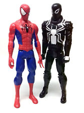 "Marvel Comics AGENT VENOM v SPIDERMAN 10"" titan toy figure hero & villain set"
