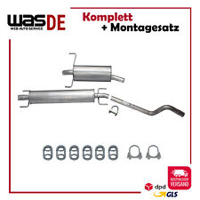 Auspuffanlage Auspuff ab Kat Opel Astra H 1.6 & 1.8 + Anbaukit