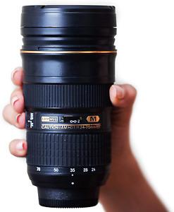 I am Mug Nikon 24-70mm Inspired Camera Lens Coffee Mug   Unique 12 Ounce Coffee