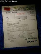 Sony Service Manual SLV SE220 SE420 SE620 SE720 SE727 SE820 SX720 SX727 (#4950)