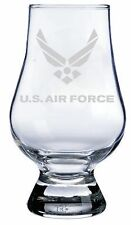 US Air Force Engraved Glencairn CRYSTAL SCOTCH WHISKY Whiskey Glass
