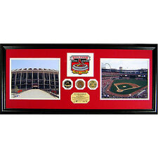 St. Louis Cardinals 2005 Busch Stadium Final Season Duo Patch Photo Mint
