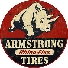 Armstrong Rhino-Flex Tires Gas and Oil Sign