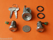 NEW IGNITION BARREL & 2 DOOR LOCKS SUIT LANDCRUISER BJ42 FJ40 FJ45 FJ55 HJ47