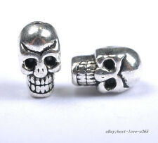20pcs Tibetan Silver Skulls Bone Loose Spacer Beads Jewelry Findings 10X8MM BE41