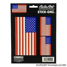 American Flag Decal SET United States Old Glory USA Sticker 1LG 2 SM