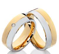 Eheringe Trauringe mit echtem Diamant Verlobungsringe mit Lasergravur EDB12