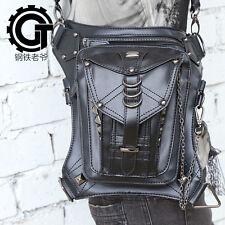 Men Women Rock Leather Retro Vintage Gothic Steam-Punk Shoulder Waist Bag #6