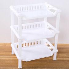 3 Tier Plastic Corner Organizer Bathroom Caddy Shelf Kitchen Storage Rack Holder