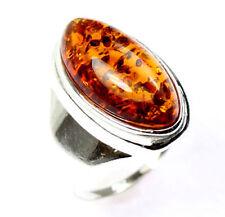 Anelli di lusso marrone argento sterling ambra