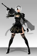 POSTER NIER: AUTOMATA NIER ANDROID YORHA 2B 9S A2 ROBOT GAME GIOCO PS4 FOTO #14