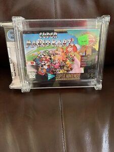 Super Mario Kart - WATA - 8.0 B+ Seal - Super Nintendo (SNES) - Player's Choice