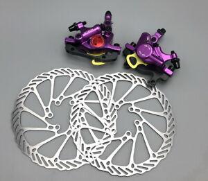 MTB Bike Disc Brakes Hydraulic Calipers Mechanical pull Front Rear 160mm rotors