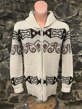 Vintage 70s Pendleton Big Lebowski Zip Up Cardigan Sweater Jacket Medium SZ 40