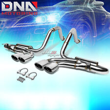 "FOR 97-04 CORVETTE C5/Z06 QUAD 4.25"" OVAL TIP STAINLESS EXHAUST CATBACK SYSTEM"