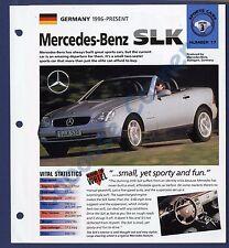 Mercedes Benz SLK IMP Brochure Specs 1996-Present Group 3, No 17