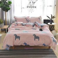 Cartoon Horse Single/Double/Queen/King Bed Quilt/Duvet/Doona Cover Set 100%