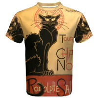NEW Le Chat Noir Black Cat Sublimated Mens Sport Mesh tee t shirt Size S-5XL
