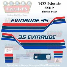 1977 Evinrude 35 HP Electric Start Outboard Repro 12 Pc Marine Decals 35752-53