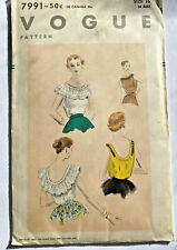 New ListingVintage 1953 Vogue Sewing Pattern 7991 Blouses Size 16