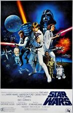 Star Wars IV A New Hope Unframed Vintage A4 Wall Décor Vintage Retro