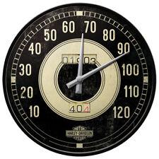 Retro Wall Clock HARLEY DAVIDSON - TACHO 30cm Metal & Glass Licensed Prod SPEEDO