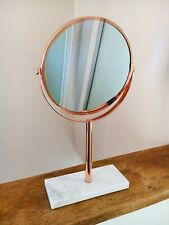 *New* Copper Mirror Rose Gold Make Up Cosmetic Magnifying Vanity Bathroom Marble